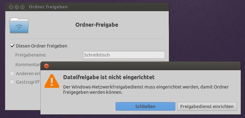 Ubuntu-Freigabe