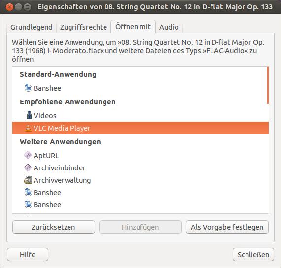 Dateizuordnungen und Standardprogramme