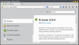 Der beste Kiosk-Modus mit reinen Browser-Mitteln: Firefox plus R-Kiosk-Erweiterung ist für diese Aufgabe dem Google-Browser klar vorzuziehen.