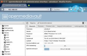 Klickfreundliches Serversystem für Odroid-XU4: Für die Platine gibt es ein gutes Dutzend Systemimages. Wer die SSH-Administration scheut, kann zu Open Media Vault greifen.