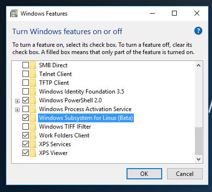 Optionales Feature: Das Linux-Subsystems wird kein Windows-Standard, sondern muss vom Nutzer nachgerüstet werden.